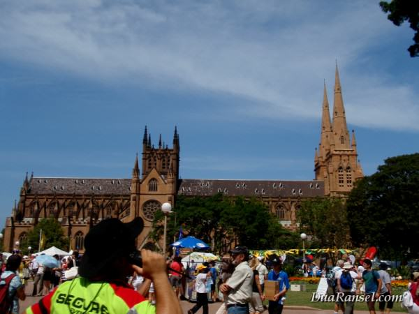 St. Mary Cathedral in Australia Day, Hyde Park, Sydney