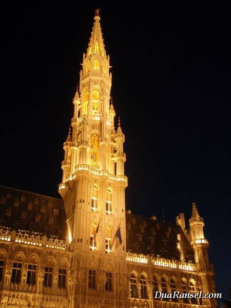 Town Hall di Grand Place Brussel, Belgia