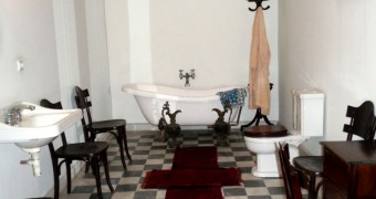 Kamar mandi Kemal Ataturk di kediamannya di Izmir, Turki