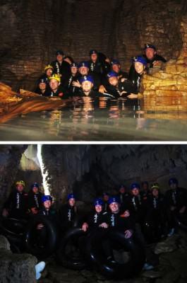 Gua Waitomo: Di dalam gua