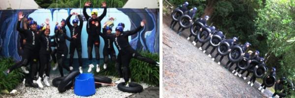 Gua Waitomo: Mencoba ban