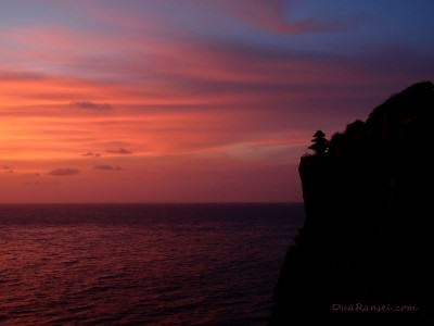 Sunset in Uluwatu, Bali, Indonesia