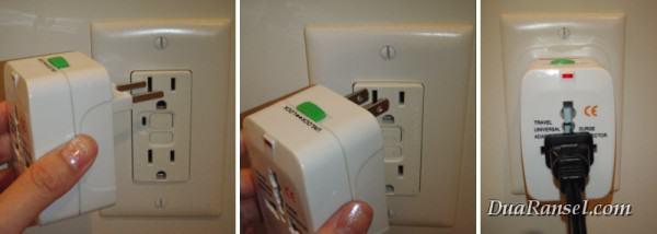Penggunaan universal adapter