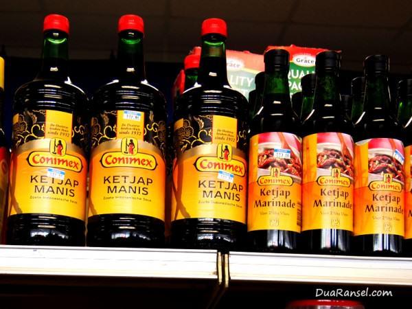 Kecap Indonesia merk Conimex di Aruba, Karibia: Ketjap Manis, Ketjap Marinade