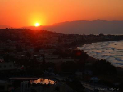 Yunani: Sunset di Kato Stalos, Pulau Kreta