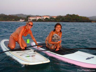 Paddleboarding in Roatan Island, Honduras