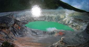 Costa Rica - Volcan Poas Postcard