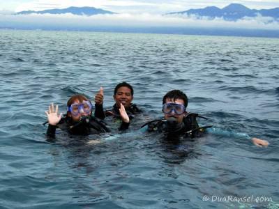 Scuba diving di Bunaken, Indonesia