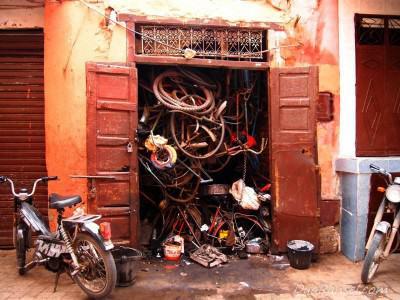 Gudang sepeda - Marrakesh, Maroko