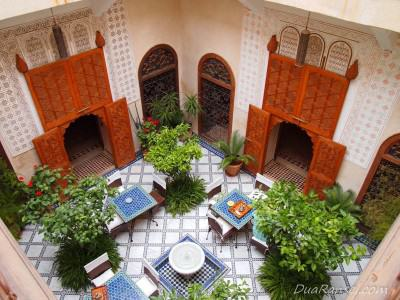 Di dalam riad - Marrakesh, Maroko