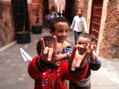 Anak-anak lokal - Marrakesh, Maroko