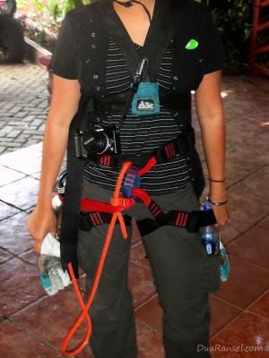 Sabuk Harness - Tur zip-line kanopi, hutan hujan-pegunungan Monteverde, Kosta Rika