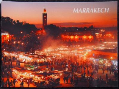 Kartu Pos DuaRansel 10: Jemaa el-Fna (Marrakesh, Maroko)