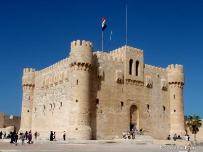 Benteng Qaitbay di Alexandria (Iskandariyah), Mesir.
