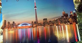 Kartu Pos DuaRansel 19 - Canada - Toronto skyline