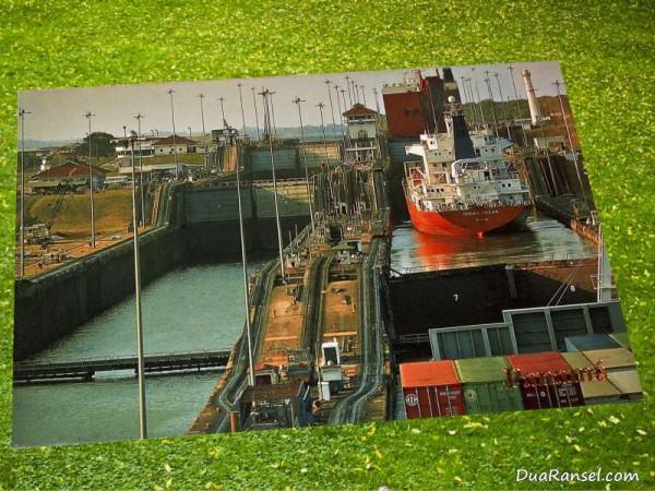 Kartu Pos DuaRansel 20 Panama Canal