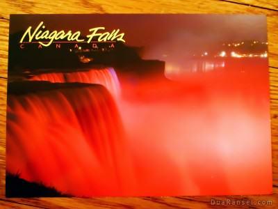 Kartu Pos Dua Ransel - Niagara Falls Canada