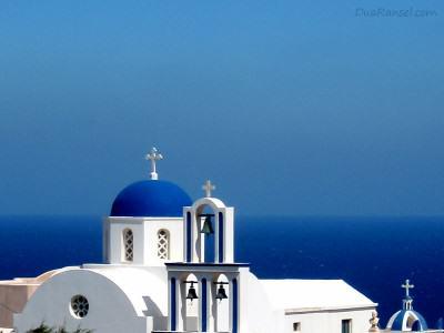 Gereja ortodoks di Santorini, Yunani