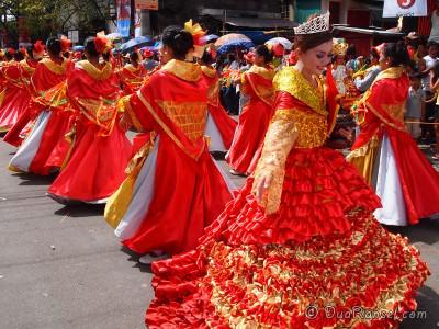 Santo Nino dancers at Sinulog Festival - Cebu, Philippines