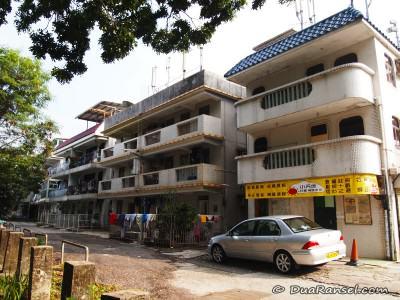 Perumahan 3 lantai di perdesaan Hong Kong
