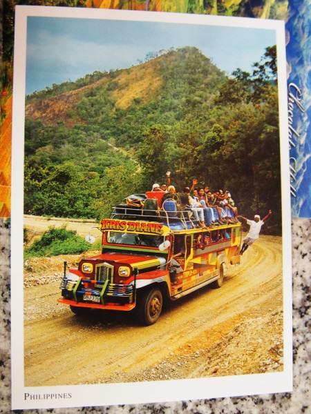 Kartu Pos DuaRansel 36 - Jeepney Filipina - Astrid
