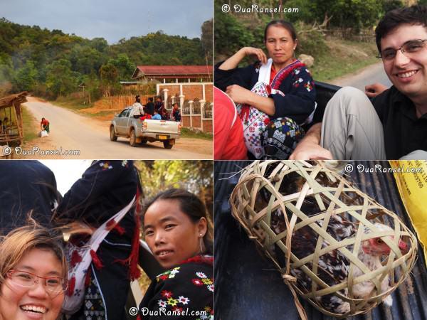 Laos - Vieng Xai - Hitchhike
