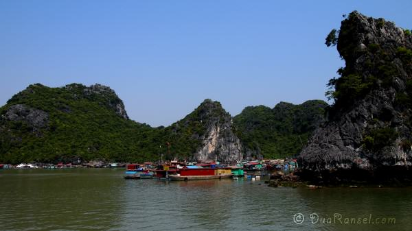 Floating village near Catba