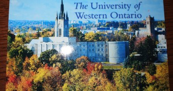 Kartu pos DuaRansel 77 - University of Western Ontario (London Canada)