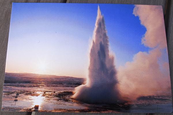 Kartu Pos DuaRansel 107 - Strokkur Geyser, Iceland