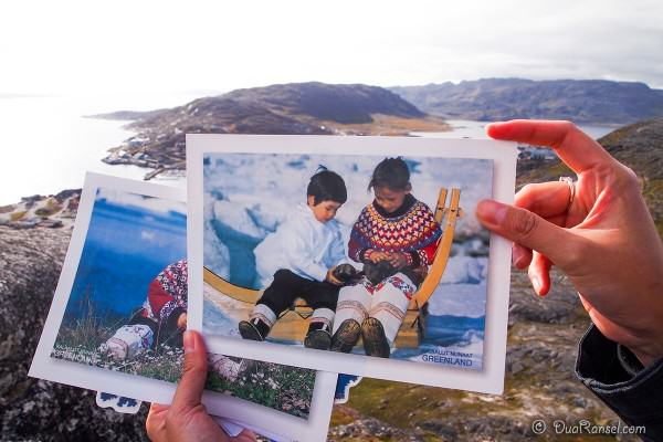 Kartu Pos DuaRansel 110 - Greenland - native kid - baby seal