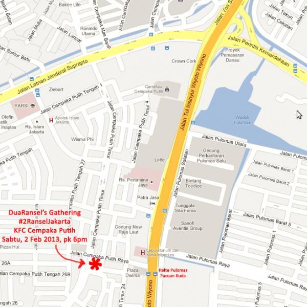 Peta KFC Cempaka Putih untuk #2RanselJakarta