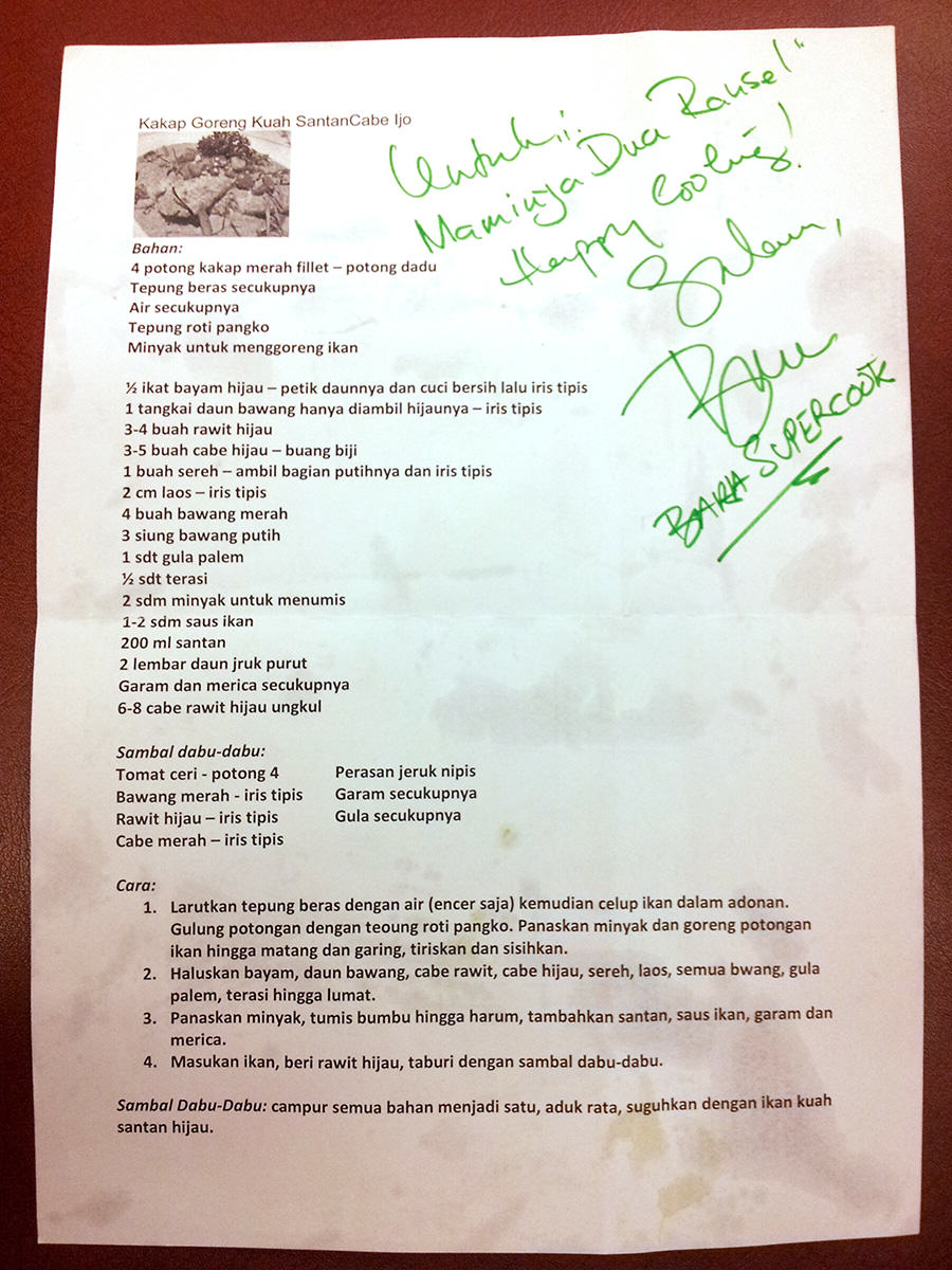 Masak Bareng Chef Bara Kakap Asli Cabe Ijo Minyak Hijau Resep Ikan Goreng Dengan Kuah Santan Dan Sambal Dabu
