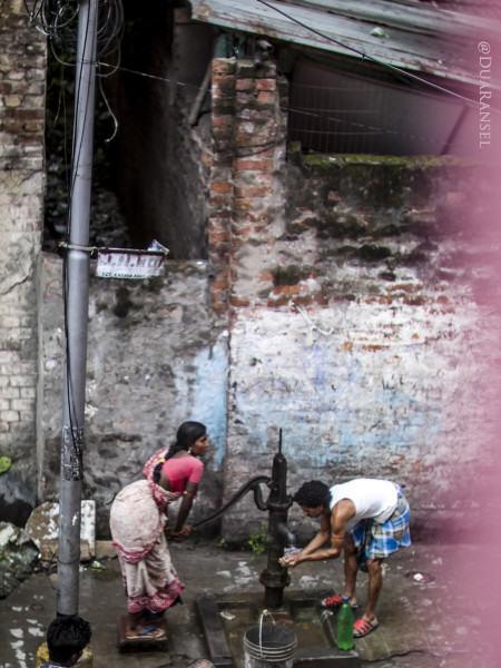 water pump at sidewalk, Kolkata