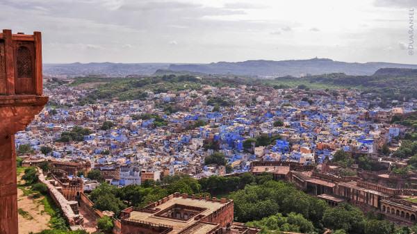 Jodhpur, the Blue CIty of India, dilihat dari Mehrangarh Fort