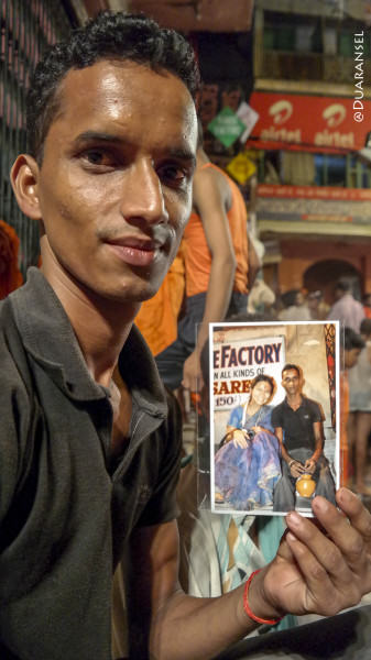 Varanasi - Photo with a pilgrim