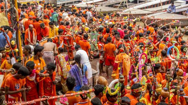 Varanasi Ganges River - among Hindu Pilgrim