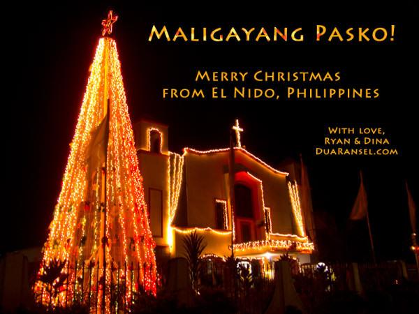 Merry Christmas | Maligayang Pasko | EL Nido