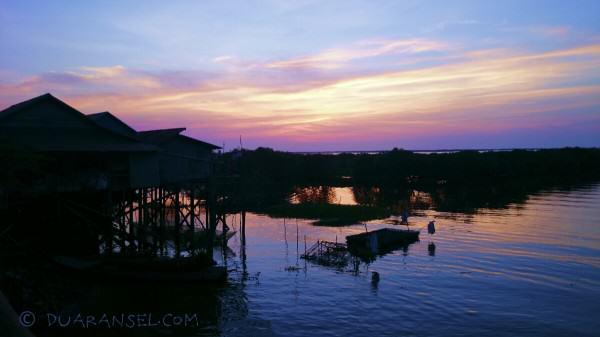 Sunset di Kampong Khleang