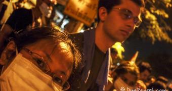 Dina and Ryan DuaRansel at Bangkok Protest 2013