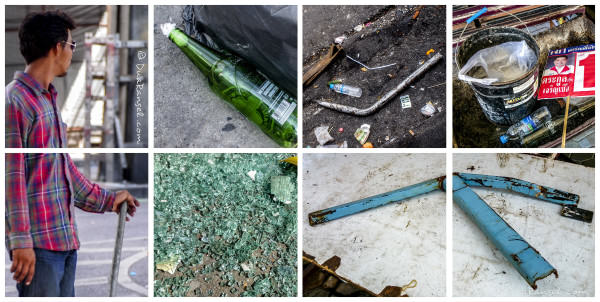 Bangkok riot - weapon