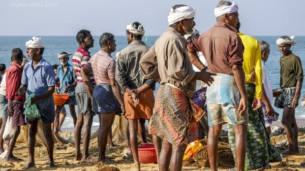 Fishermen in their lungi