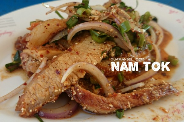 Nam tok - Thai grilled meat salad