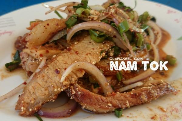 Nam tok - Thai grilled meat salad