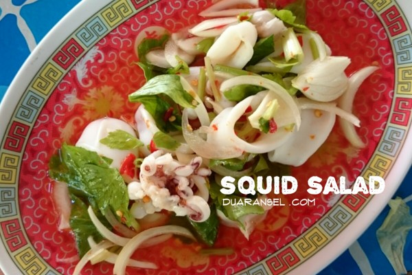Yam pra muek - Thai sour and spicy squid salad