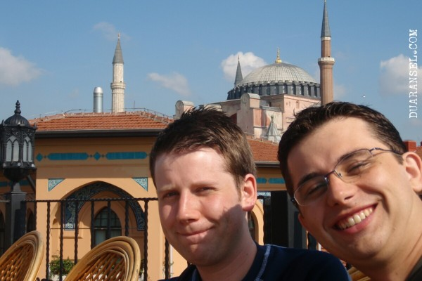 Hagia Sophia - view from hostel roof top